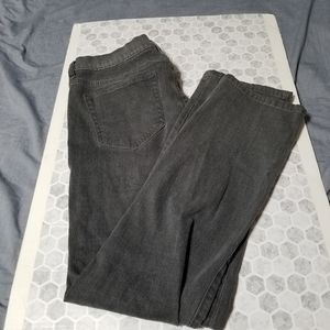 JCPenny Slim Straight High Stretch Denim Gray